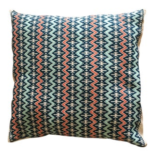 Mexican Chiapas Hand Embroidered Pillow