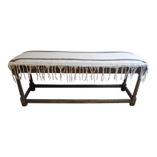 Wool Cushion Covered Bench