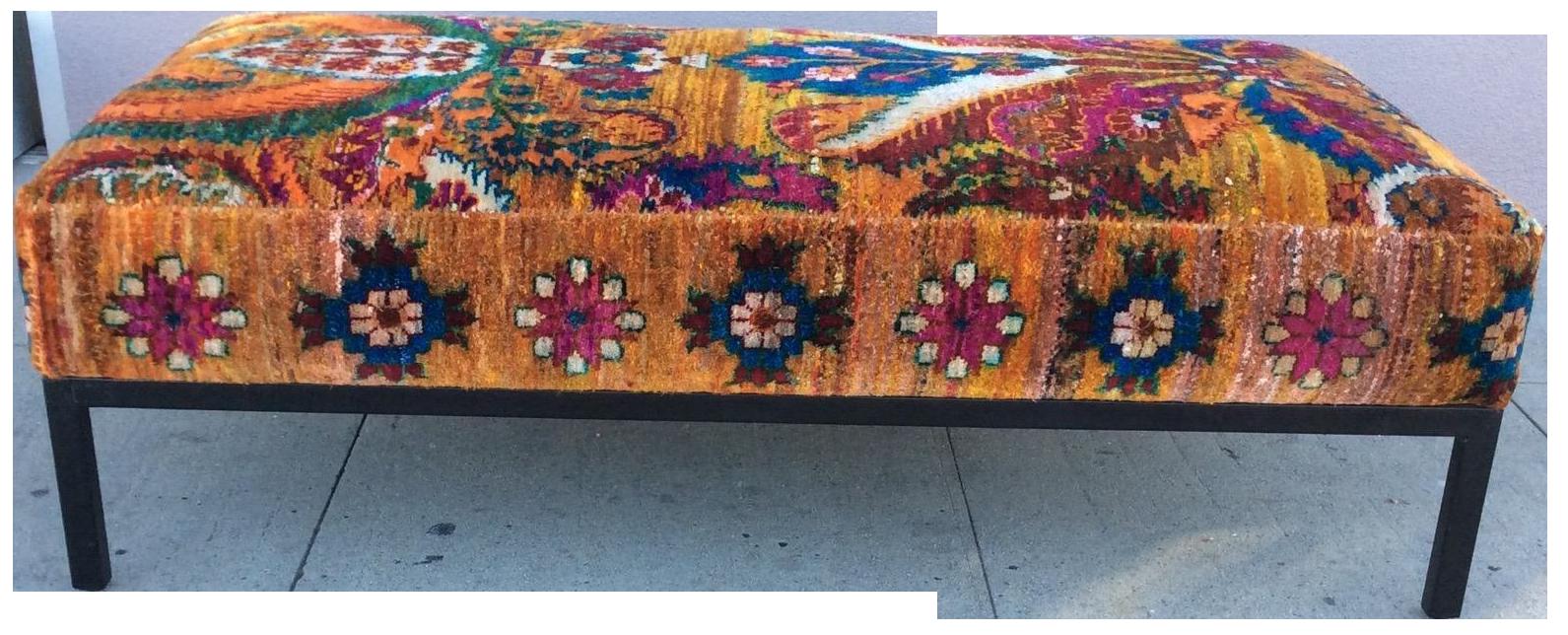 Amazing Anthropologie Style Kilim Ottoman