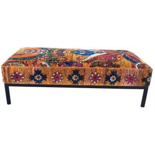 Anthropologie-Style Kilim Ottoman