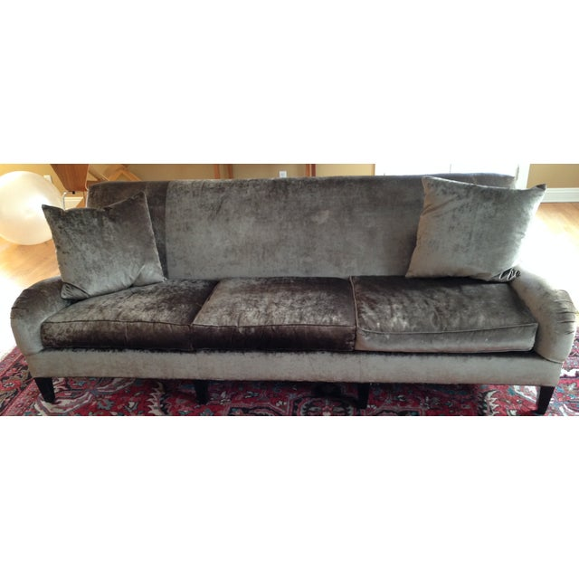 Hickory Chair Emory Sofa in Silver/Grey Velvet - Image 2 of 4