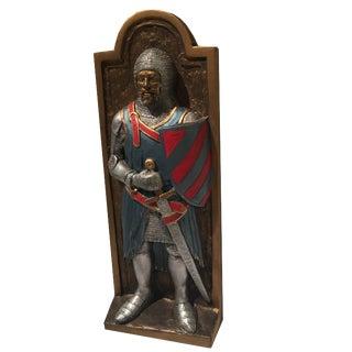 British Pub Decor Medieval Knight Plaque