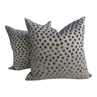 Rubelli Kiki Cut Velvet Pillows - A Pair