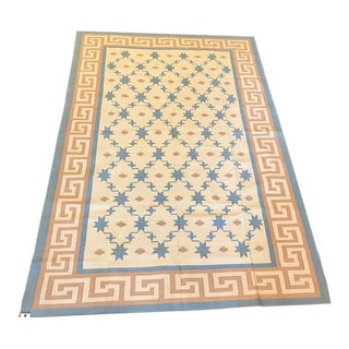 Handmade Flat Woven Kilim Rug - 6'x9