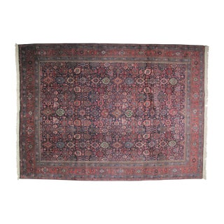 "Navy Bijar Carpet - 9'10"" X 13'10"""