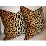 Image of Leopardo Cotton Velvet Accent Pillows - A Pair
