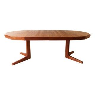 Vintage Danish Teak Extending Dining Table