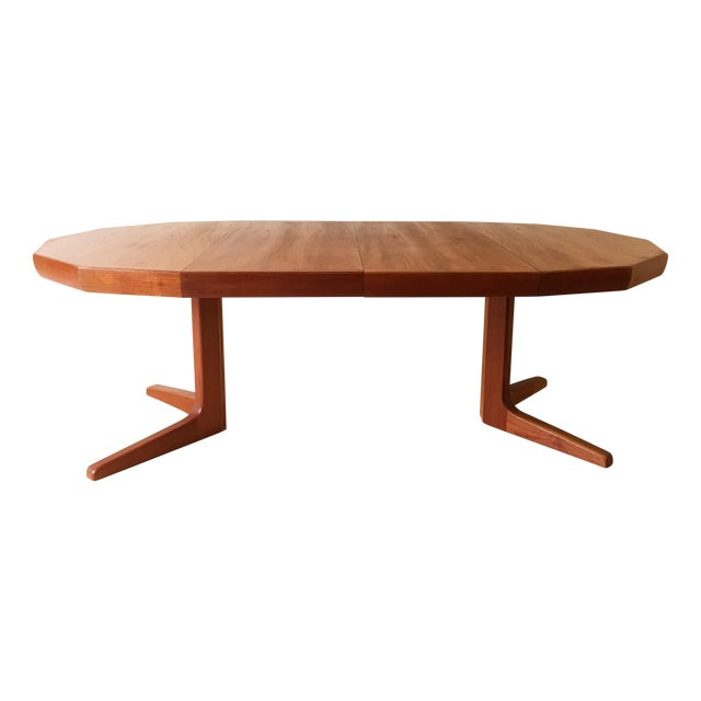 Image of Vintage Danish Teak Extending Dining Table