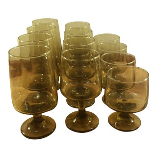 Tawny Accent Stemware by Libbey-Rock Sharpe - Set of 12