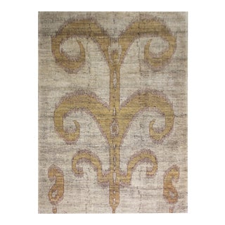 """Hand Knotted Ikat Rug by Aara Rugs Inc. - 6'7"""" X 9'9"""""""