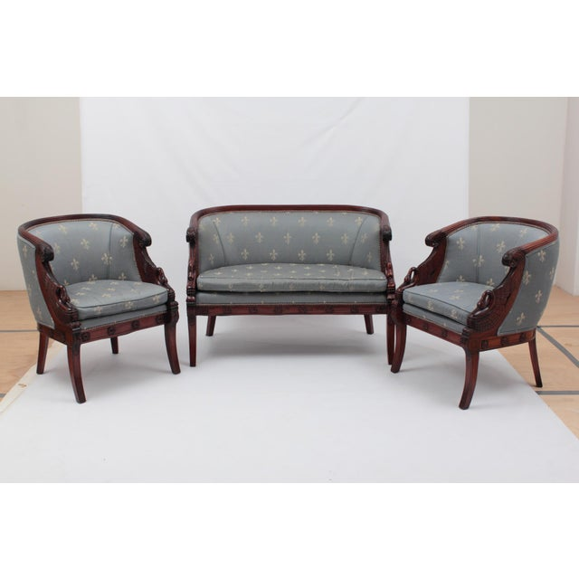 Empire Style Sofa   Chairs   Set of 3   Image 2. Empire Style Sofa   Chairs   Set of 3   Chairish
