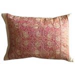 Image of Embroidered Handwoven Copper Silk Pillow