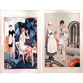 "20's La Vie Parisienne ""Getting Ready"" Prints-Pair"