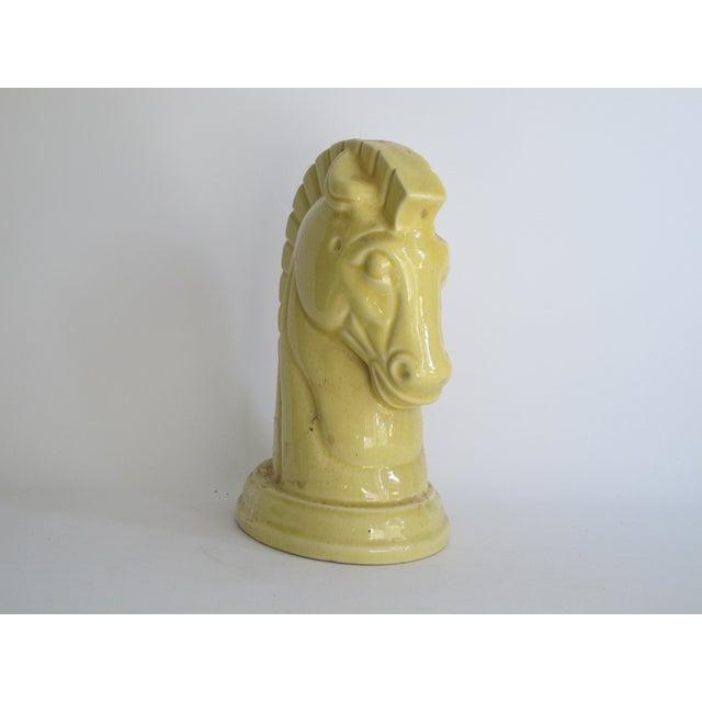 Image of Yellow Art Deco Ceramic Horse Head