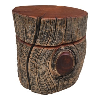 Bohemian Natural Decor Handmade Log Box