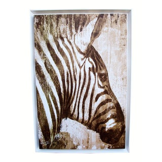 Zebra Print on Framed Canvas