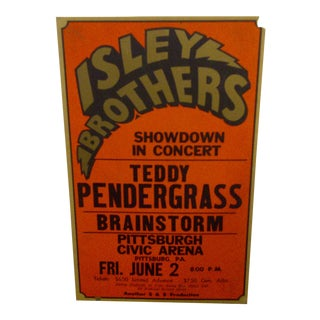 Vintage Isley Brothers Concert Poster