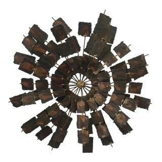 Mid-Century Brutalist Brass Wall Sculpture