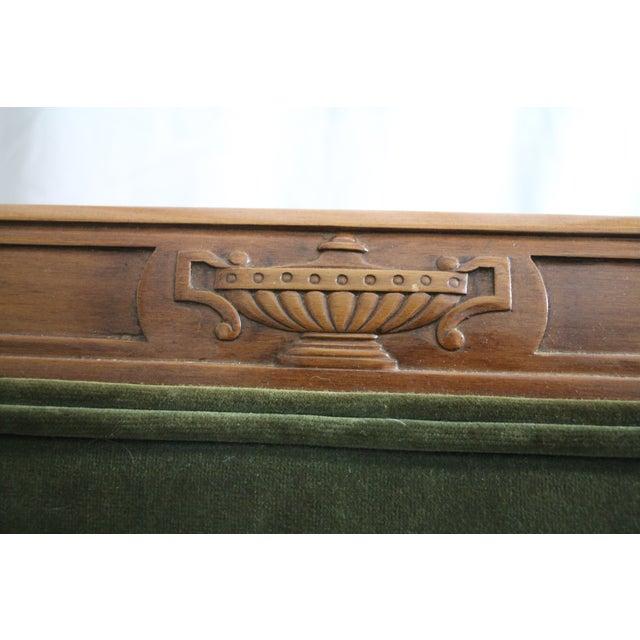 Green Velvet Louis XVI-Style Armchair - Image 3 of 7
