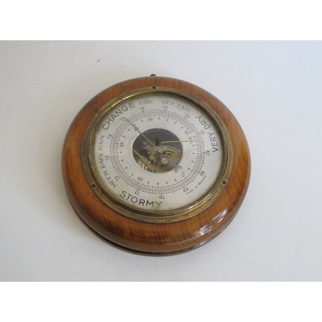 French Wood & Brass Barometer - Image 3 of 5