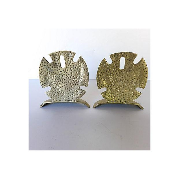Brass Seaside Sand Dollar Bookends - A Pair - Image 5 of 7