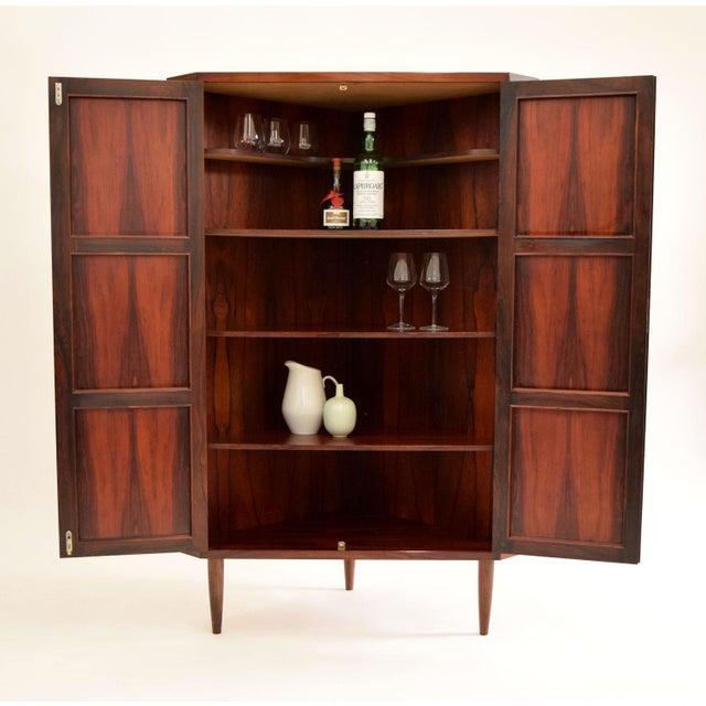 Arne Wahl Iversen Attri. Danish Rosewood Cabinet - Image 3 of 10