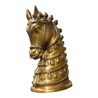 Vintage Brass Horse Head Statue