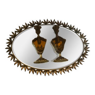 Hollywood Regency Goldcrest Sunburst Vanity Mirror & Perfume Bottles - Set of 3
