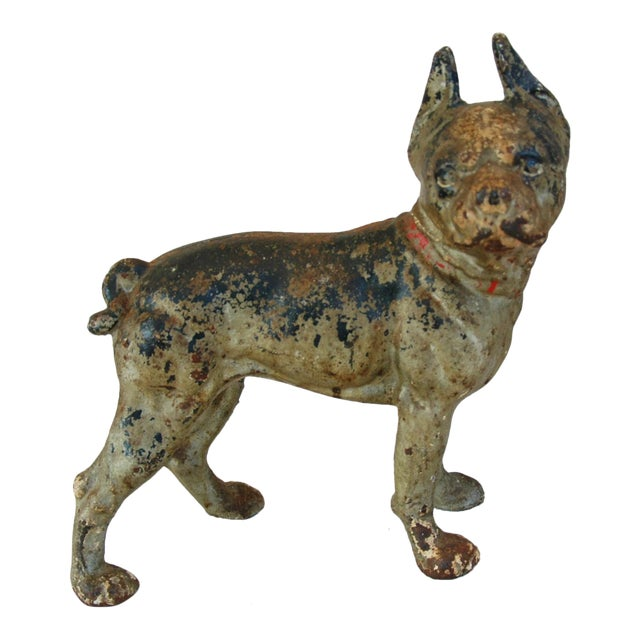 1940s Cast Iron Boston Terrier Dog Doorstop - Image 1 of 9