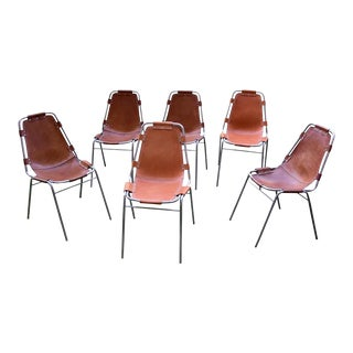A set Charlotte Perriand Les Arch Chairs