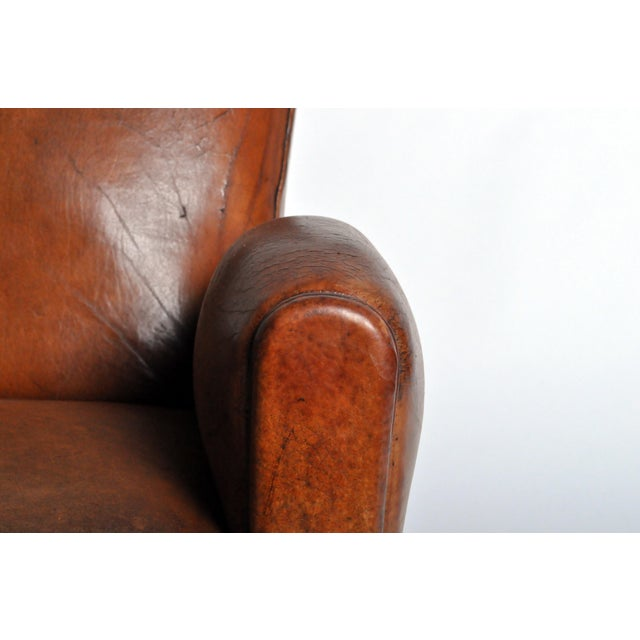 Art Deco Leather Club Chair - Image 6 of 11