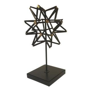 Black Star Geometric Sculpture
