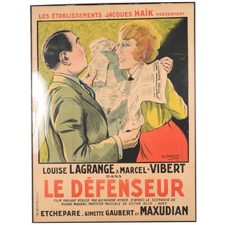 """""""Le Defenseur"""" French Movie Poster"""