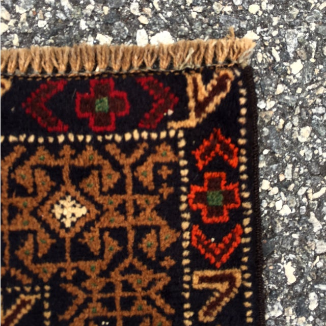 "Vintage Handmade Persian Baluchi Rug - 2'10""x4'7"" - Image 7 of 10"