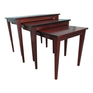 Danish Modern Rosewood Nesting Tables - Set of 3
