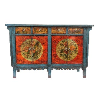 Painted Mongolian Lacquer Sideboard