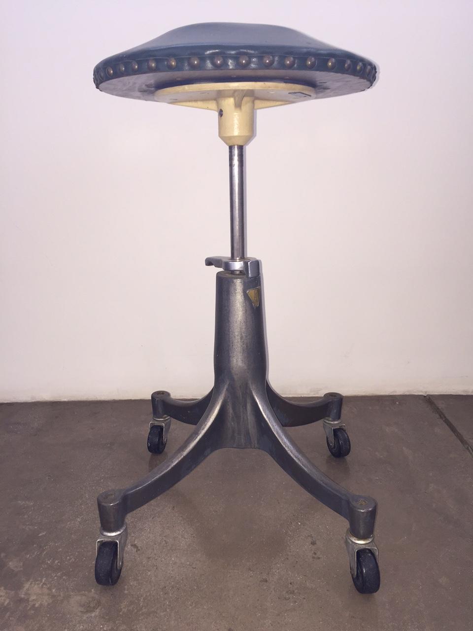 Vintage Industrial Bausch U0026 Lomb Adjustable Stool   Image 2 ...