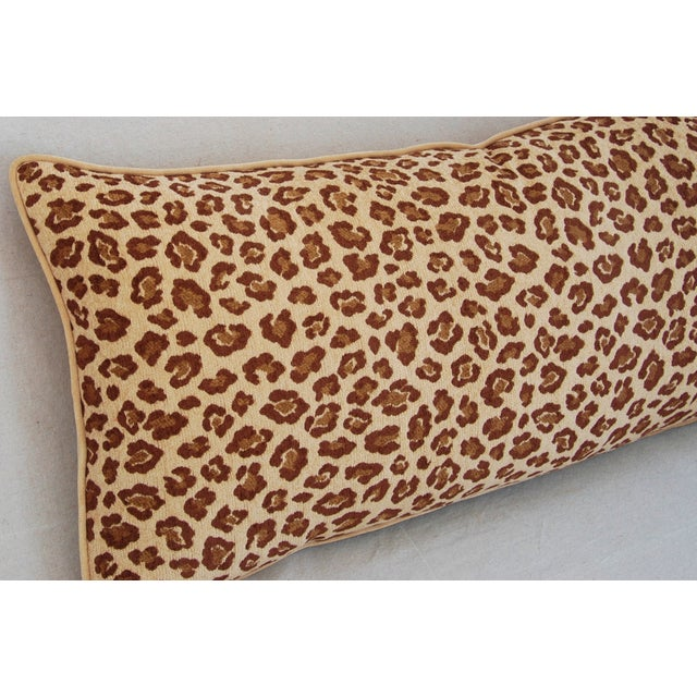 Leopard Velvet Lumbar Body Pillow - Image 7 of 8