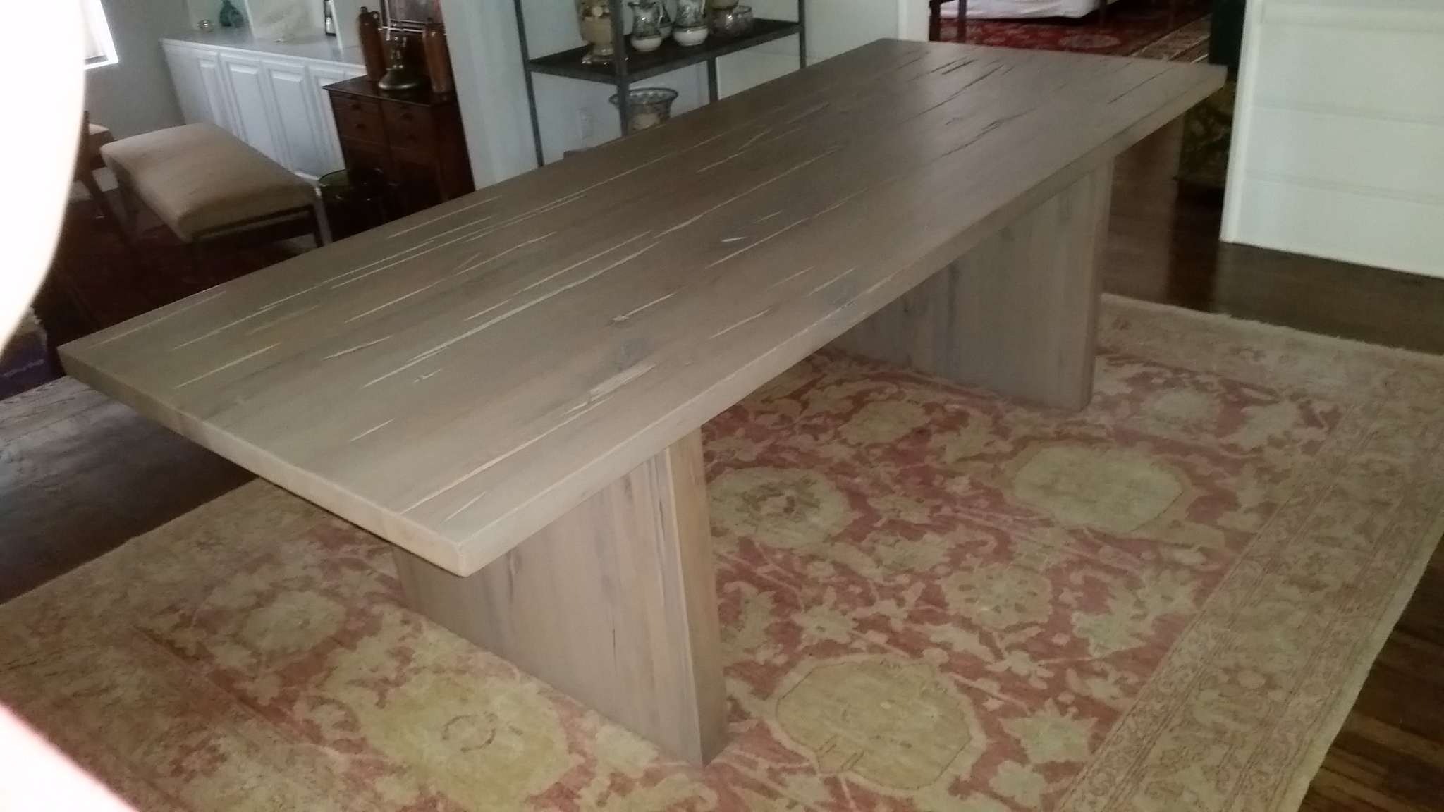 Restoration Hardware Reclaimed Russian Oak Table   Image 3 Of 7