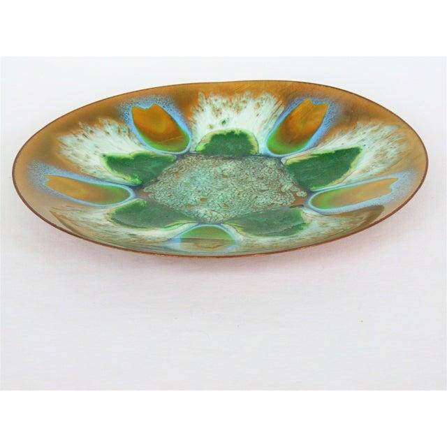 Edwards Star Enamel on Copper Dish - Image 4 of 5