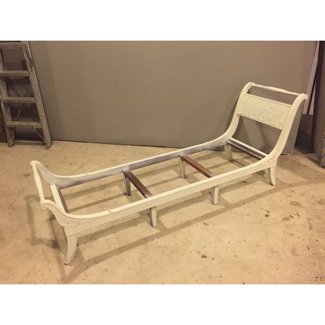 Antique 1920s White Directoire Style Chaise Lounge - Image 11 of 11