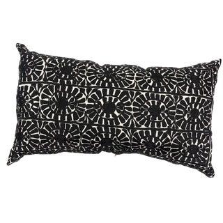 Handmade Moroccan Rectangular Black Pillow