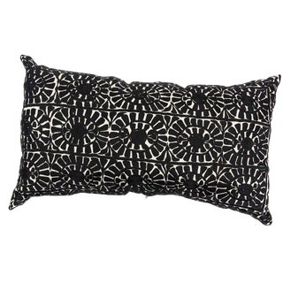 Handmade Moroccan Rectangular Black Pillow