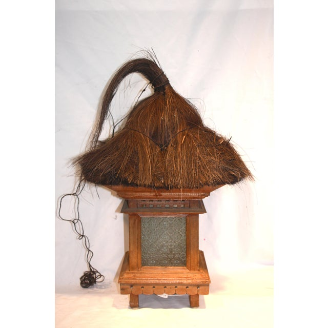 Balinese Traditional Wood & Grass Lantern - Image 3 of 3