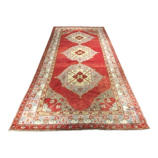 "Bellwether Rugs Vintage Turkish Oushak Runner - 4'10"" x 11'8"""
