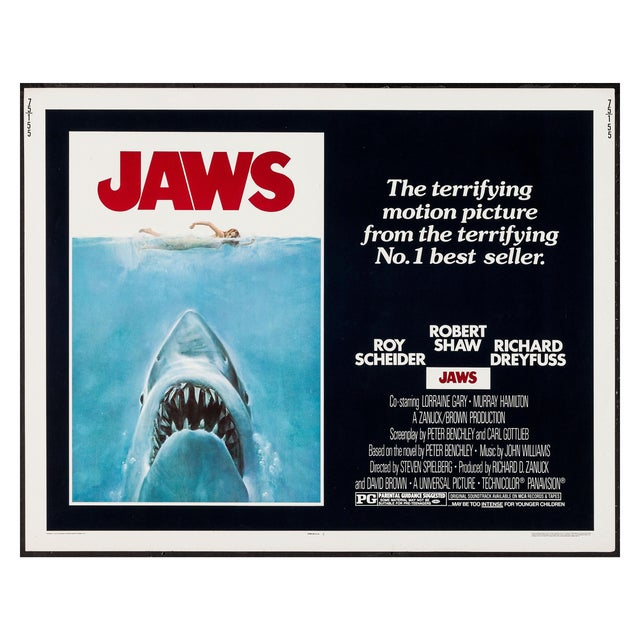 "Original 1975 ""Jaws"" Film Poster 