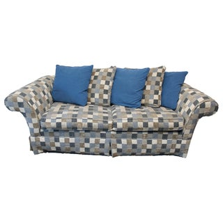 Ethan Allen Couch Roll Sock Arm Skirted Sofa