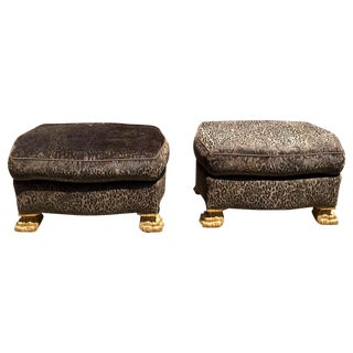 One of a Pair of Jed Johnson Ottomans, Second Also Available