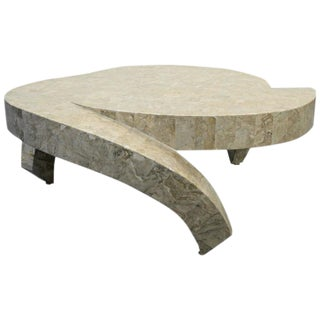 Maitland Smith 3 Legged Tessellated Stone Coffee Table