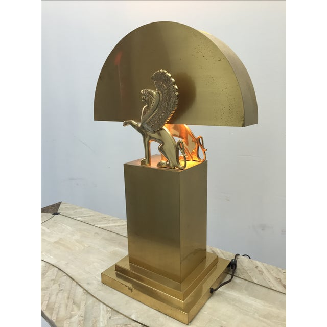 Rare Custom Lamp in the Manner of Karl Springer - Image 2 of 9